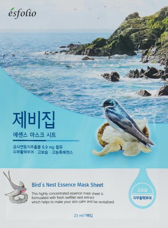 """Mască din țesătură """"Extract de cuibul rândunicii"""" - Esfolio Bird's Nest Essence Mask Sheet"""