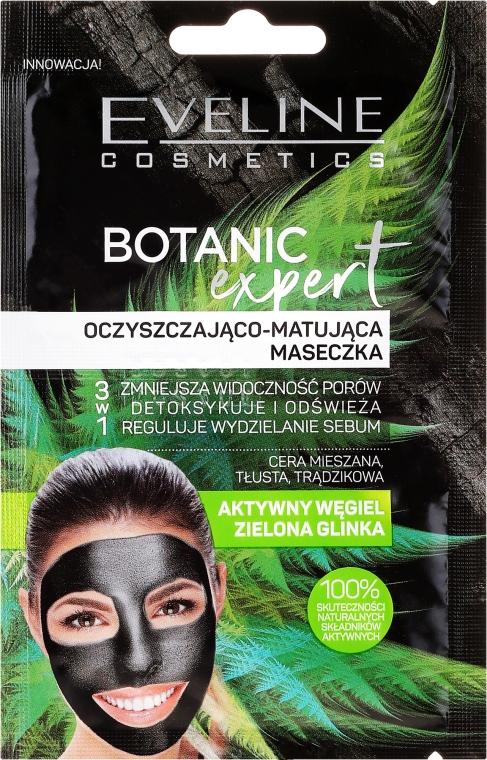 Mască de față - Eveline Cosmetics Botanic Expert Purifying & Mattifying Face Mask