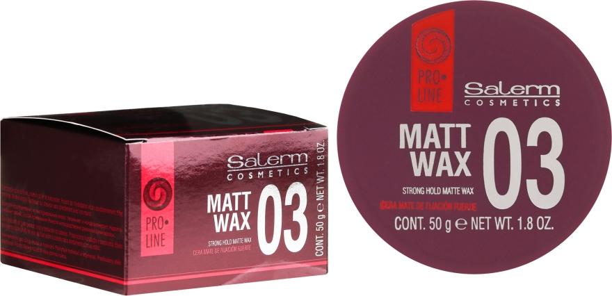 Ceară de păr - Salerm Matt Wax — Imagine N1