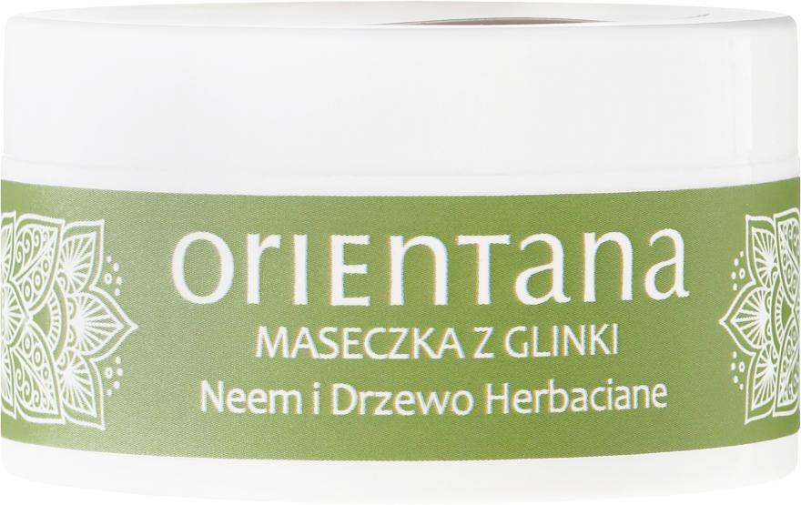 """Mască de față """"Neem și arbore de ceai"""" - Orientana Clay Face Mask Neem & Tea Tree — Imagine N2"""