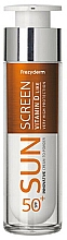 Parfumuri și produse cosmetice Cremă protecție solară pentru față - Frezyderm Sun Screen Vitamin D Like Skin Benefits Cream to Powder SPF50+
