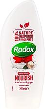 Parfumuri și produse cosmetice Cremă-gel de duș - Radox Moisturising Nourish Shea Butter & Ginger Shower Cream