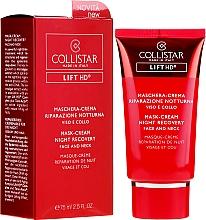 Parfumuri și produse cosmetice Cremă-mască de noapte pentru față și gât - Collistar Lift HD Mask Cream Night Recovery