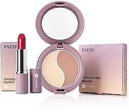 Parfumuri și produse cosmetice Set - Paese Nanorevit (f/powder/4.5g + lipstick/4/3g)