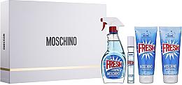 Parfumuri și produse cosmetice Moschino Fresh Couture - Set (edt/100ml + edt/10ml + b/lot/100ml + sh/gel/100ml)