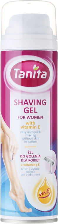 Gel cu vitamina E pentru ras - Tanita Body Care Shave Gel For Woman