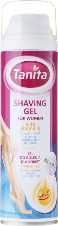 Gel cu vitamina E pentru ras - Tanita Body Care Shave Gel For Woman