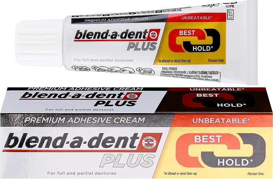 Cremă adezivă pentru fixarea protezelor dentare - Blend-A-Dent Premium Adhesive Cream Plus Dual Power Light Mint