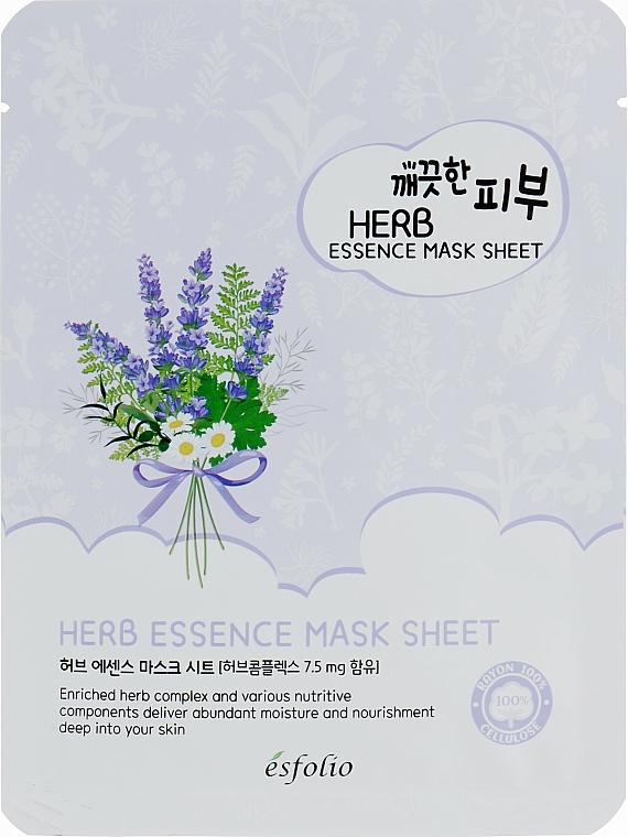 Mască de țesut cu extract de plante - Esfolio Pure Skin Essence Herb Mask Sheet