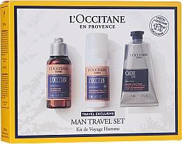 Parfumuri și produse cosmetice Set - L'Occitane Man Travel Set (sh/gel/75ml + deo/50ml + after/shave/balm/75ml)