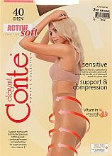"Parfumuri și produse cosmetice Colanți ""Active Soft"" 40 Den, natural - Conte"