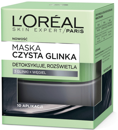 """Mască de față pentru detoxifiere și luminare """"Argila pură"""" - L'Oreal Paris Skin Expert"""