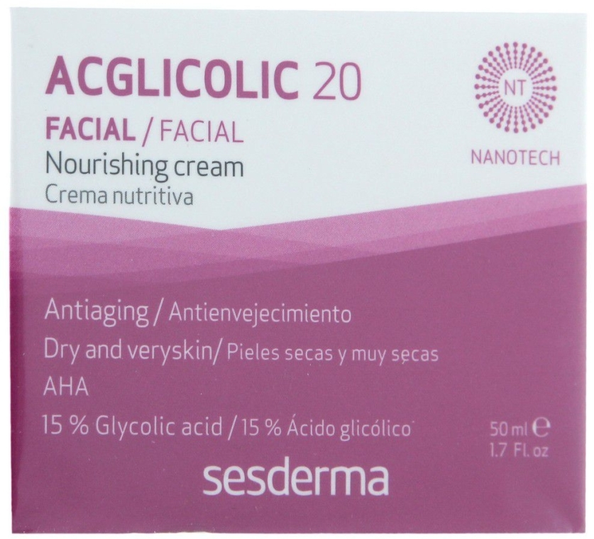 Cremă de noapte anti-îmbătrânire - SesDerma Laboratories Acglicolic 20 Nourishing Cream — Imagine N1