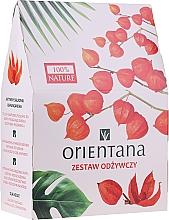 Parfumuri și produse cosmetice Set - Orientana Papaya (f/cr/40ml + f/peeling/50ml + eye/mask/1pad)