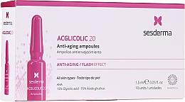 Parfumuri și produse cosmetice Fiole anti-îmbătrânire cu acid glicolic - SesDerma Laboratories Acglicolic Anti-Aging Flash Effect Ampoules