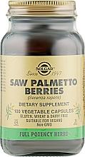 "Parfumuri și produse cosmetice Supliment alimentar ""Boabe Palmetto"" - Solgar Saw Palmetto Berries"