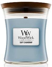 Lumânare aromată - WoodWick Hourglass Candle Soft Chambray — Imagine N1