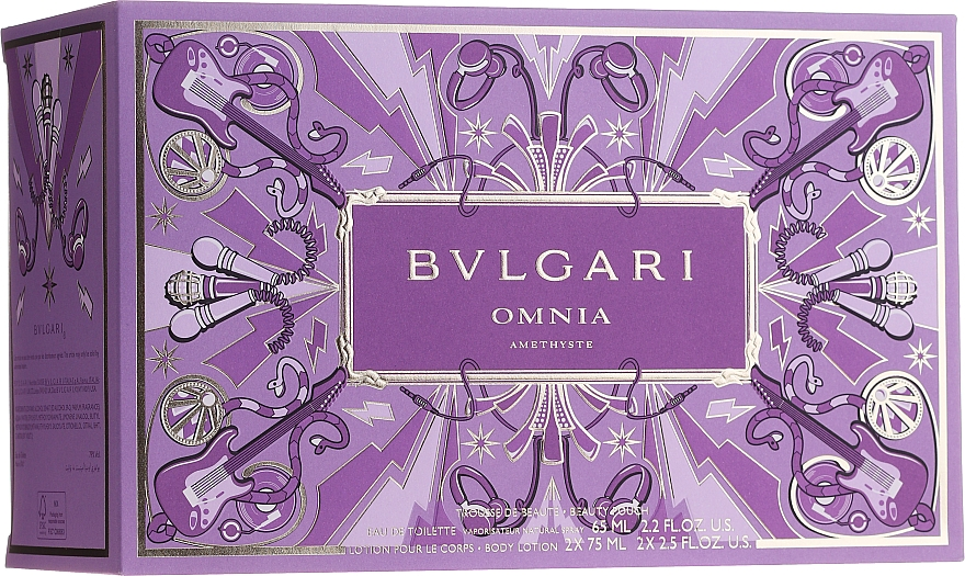 Bvlgari Omnia Crystalline - Set (edt/65 + b/lot/2x75ml + pouch) — Imagine N5