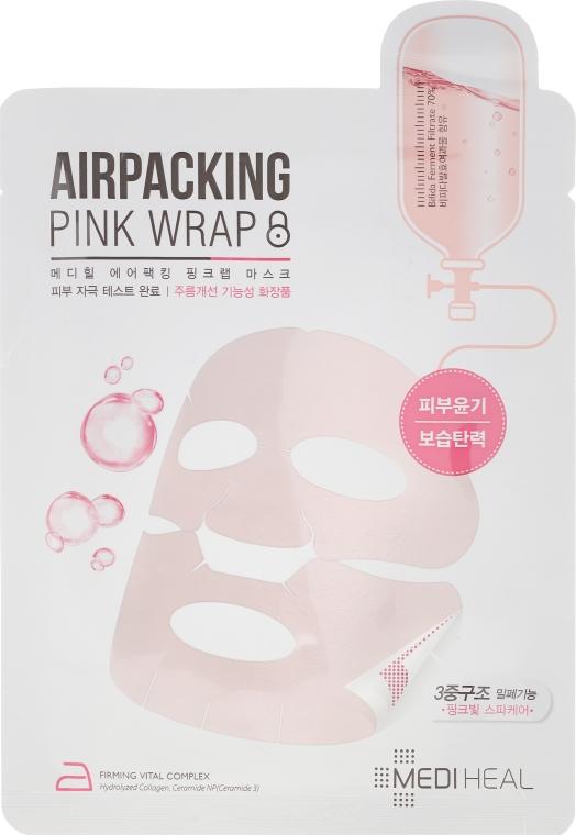 Mască de țesut pentru față - Mediheal Airpacking Pink Wrap Sheet Mask — Imagine N1