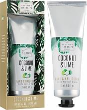 Parfumuri și produse cosmetice Cremă pentru mâini și unghii - Scottish Fine Soaps Coconut & Lime Hand & Nail Cream