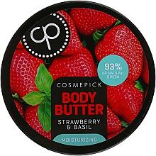 Parfumuri și produse cosmetice Unt hidratant cu extract de căpșuni și busuioc pentru corp - Cosmepick Body Butter Strawberry & Basil
