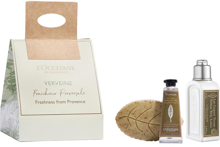 Set - L'Occitane Verbena Frashness (sh/gel/75ml + soap/75ml + h/cr/10ml) — Imagine N1