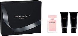 Parfumuri și produse cosmetice Narciso Rodriguez For Her - Set (edp/50ml + b/lot/75ml + sh/gel 75ml)