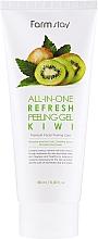 Parfumuri și produse cosmetice Peeling cu kiwi pentru față - FarmStay All-In-One Refresh Peeling Gel Kiwi