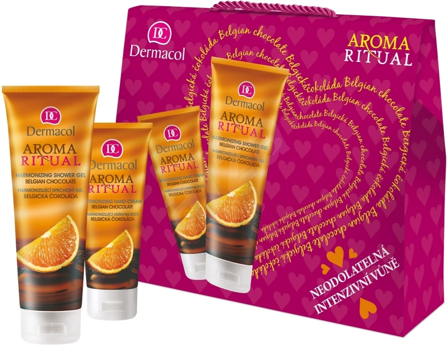Set - Dermacol Aroma Ritual Belgian Chocolate (sh/gel/250ml+h/cr/100ml) — Imagine N1