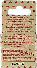 "Vaselina cosmetică pentru buze ""Trandafir"" - Floslek Lip Care Cosmetic Lip Vaseline Rose — Imagine N2"