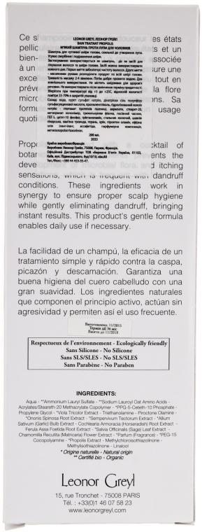 Șampon antimătreață - Leonor Greyl Bain Traitant a la Propolis — Imagine N3