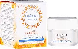 Parfumuri și produse cosmetice Cremă-somn liniștit regeneratoare de noapte - Lumene Valo Overnight Bright Vitamin C Sleeping Cream
