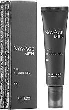 Parfumuri și produse cosmetice Gel tonifiant pentru pielea din zona ochiului - Oriflame NovAge Men Eye Rescue Gel