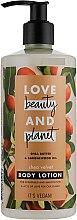 Parfumuri și produse cosmetice Loțiune cu unt de shea pentru corp - Love Beauty&Planet Shea Butter & Sandalwood Oil Lotion