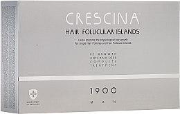 Parfumuri și produse cosmetice Complex tratament împotriva căderii părului, pentru bărbați - Crescina Hair Follicular Island Re-Growth + Anti-Hair Loss 1900 Man