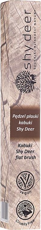 Pensulă pentru machiaj, plată - Shy Deer Flat Brush — Imagine N2