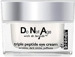 Parfumuri și produse cosmetice Cremă cu complex tripeptidic pentru pleoape - Dr. Brandt Triple Peptide Eye Cream