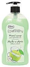 """Parfumuri și produse cosmetice Săpun lichid pentru mâini """"Măr verde și Aloe Vera"""" - Bluxcosmetics Naturaphy Hand Soap"""