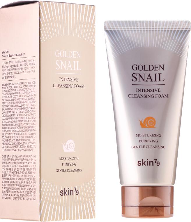 Spumă de curățare cu mucus de melc - Skin79 Golden Snail Cleansing Foam — Imagine N1