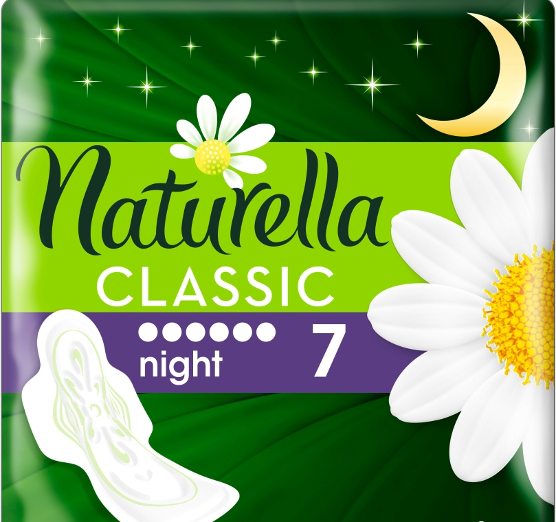 Absorbante, 7 bucăți - Naturella Classic Night