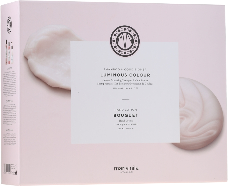 Set - Maria Nila Luminous Colour Gift Set (h/shm/350ml + h/cond/300ml + h/soap/300ml) — Imagine N1