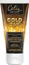 Parfumuri și produse cosmetice Cremă pentru mâini și unghii - Celia De Luxe Gold 24K Luxurious Hand & Nail Cream