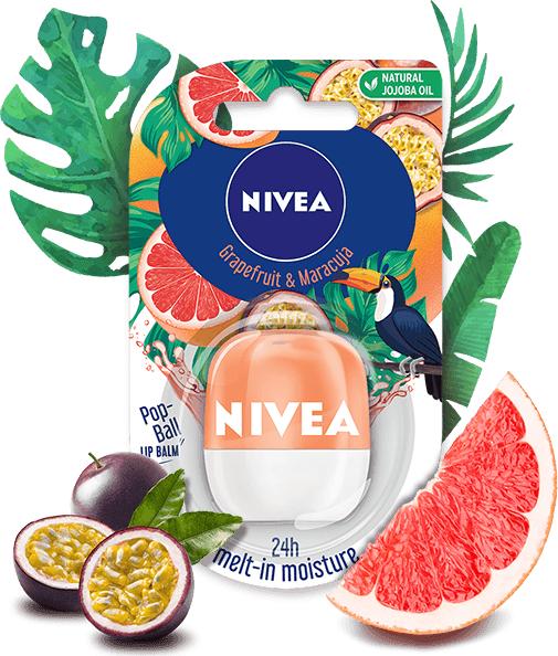 Balsam de buze - Nivea Pop-Ball Grapefruit & Maracuja Lip Balm — Imagine N5