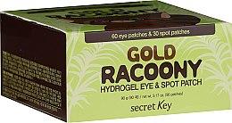 Parfumuri și produse cosmetice Patch-uri de hydrogel sub ochi, cu aur - Secret Key Gold Racoony Hydrogel Eye Spot Patch