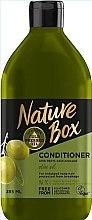Parfumuri și produse cosmetice Balsam cu ulei de măsline pentru îngrijirea părului lung - Nature Box Conditioner Olive Oil