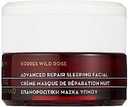 Parfumuri și produse cosmetice Cremă-Mască regenerantă - Korres Wild Rose Advanced Repair Sleeping Facial