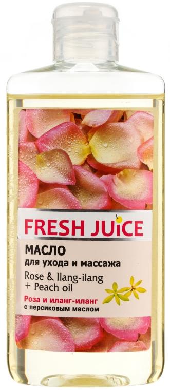 "Ulei de corp ""Trandafir. Ylang-Ylang. Piersic"" - Fresh Juice Energy Rose&Ilang-Ilang+Peach Oil"