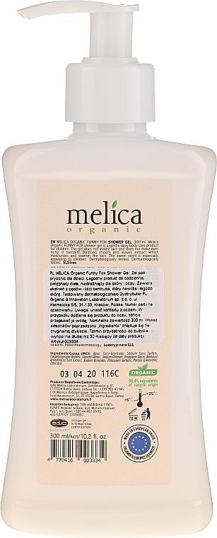 """Pastă de dinți pentru copii """"Fox"""" - Melica Organic Funny Fox Shower Gel — Imagine N2"""