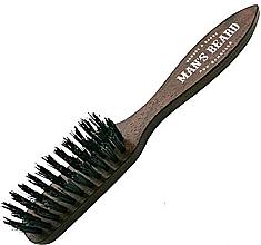 Parfumuri și produse cosmetice Perie pentru barbă și mustață cu mâner - Man'S Beard Beard And Mustache Brush