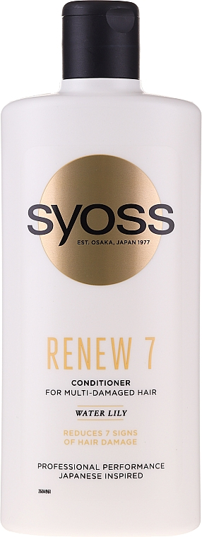 Balsam pentru păr foarte deteriorat - Syoss Renew 7 Water Lily Conditioner For Multi-Damage Hair